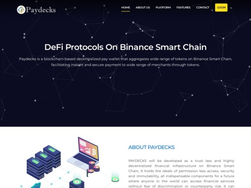 Paydecks Decentralized Pay Wallet