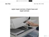 copier repair services a Copier lease and repair services