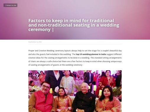 Factors to keep in mind for traditional and non-traditional seating in a wedding ceremony |