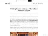 Wedding Planner in Udaipur | Theme Decor  Planner In Gurgaon