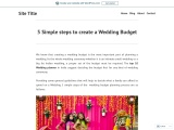 5 Simple steps to create a Wedding Budget