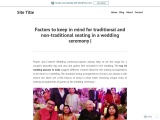 Factors to keep in mind for traditional and non-traditional seating in a wedding ceremony  
