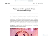 Process to involve guests in Virtual Lockdown Wedding |