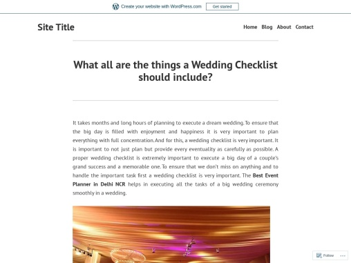 What all are the things a Wedding Checklist should include?