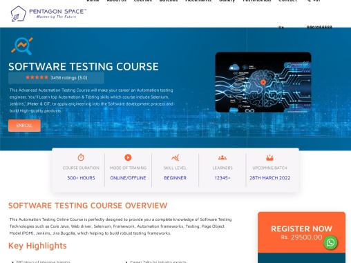 software testing and automation course in bangalore