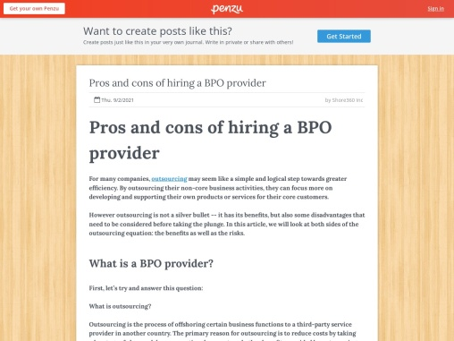 Pros and cons of hiring a BPO provider