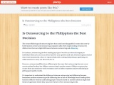 Is Outsourcing to the Philippines the Best Decision