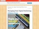 Managing Your Digital Marketing Offshore Team