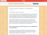 Outsourcing Web Development to the Philippines