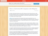 Where to Find the Best BPO Companies in the Philippines