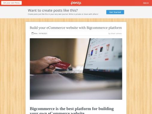 Build your eCommerce website with Bigcommerce platform