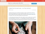 Capital One Personal Loans – Are They the Best?
