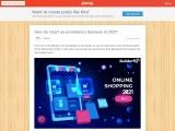 Penzu- How do I start an ecommerce business in 2021?