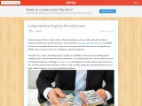 Using American Express Personal Loans