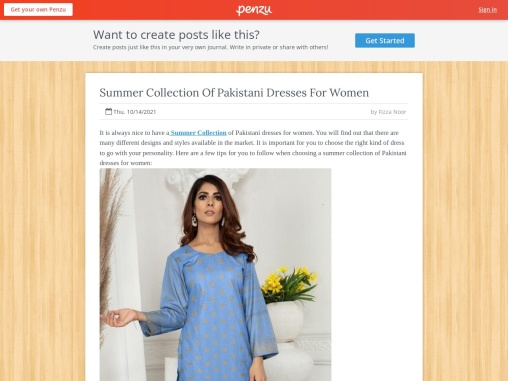 Summer Collection Of Pakistani Dresses For Women