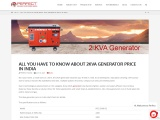 2kva Generator price in india|2kva Generator price