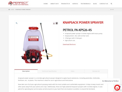 knapsack power sprayer available in India