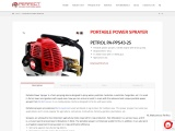 Portable power sprayer for agriculture