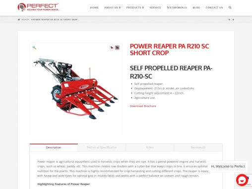 Power reaper available in India