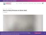 How to Hang Pictures on Brick Wall