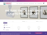 Track lighting for pictures and art