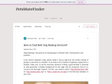 How to Find Best Dog Mating Services?