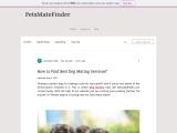 Dog Mating Services | Find Best Dog