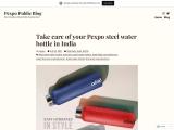 Pexpo stainless steel water bottle