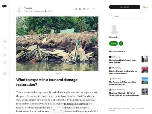 What to expect in a tsunami damage restoration?
