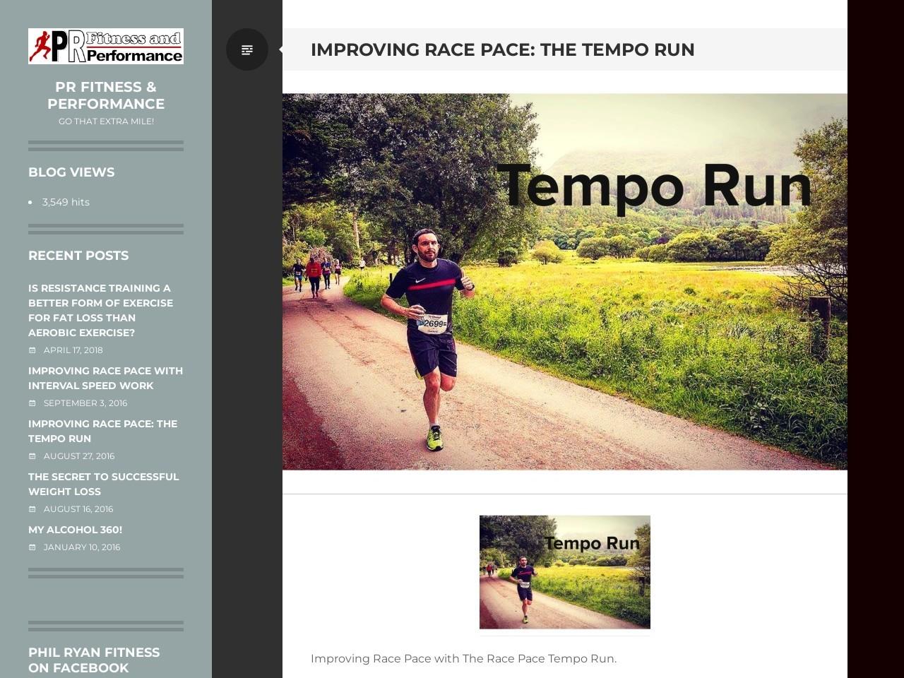 Improving Race Tempo: The Tempo Run – Phil Ryan Fitness