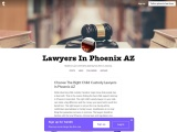 Choose The Right Child Custody Lawyers In Phoenix AZ