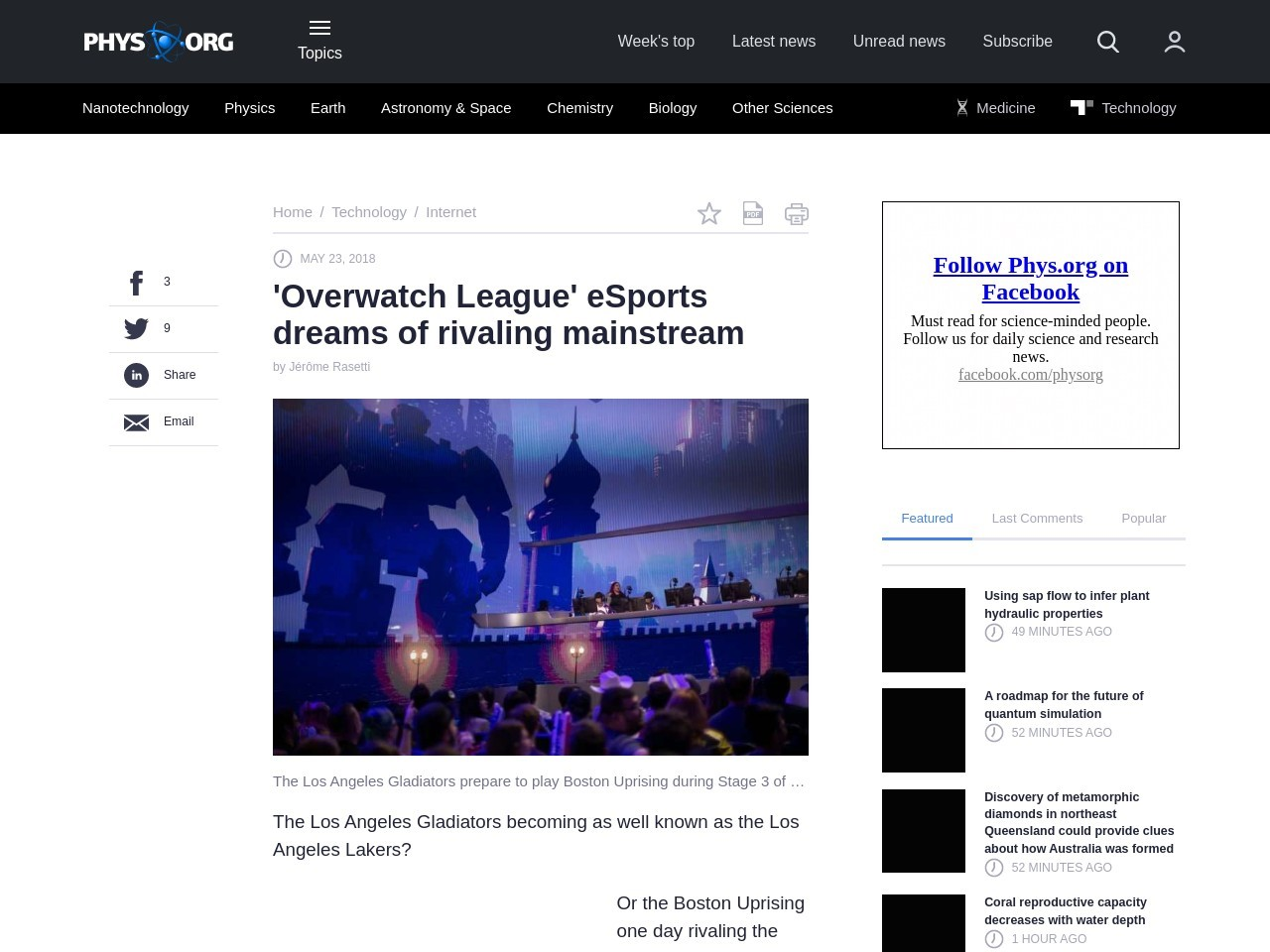 'Overwatch League' eSports dreams of rivaling mainstream