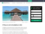 Best places to visit in the Maldives in 2021