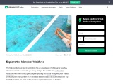 Explore the Islands of Maldives