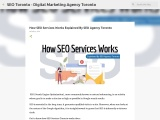 How SEO Services Works Explained By SEO Agency Toronto