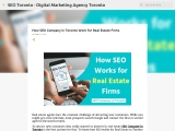 How SEO Company in Toronto Works for Real Estate Firms