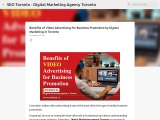 Benefits of Video Advertising for Business Promotion by Digital Marketing in Toronto