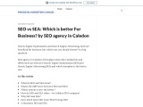 SEO vs SEA: Which is better For Business? by SEO agency in Caledon
