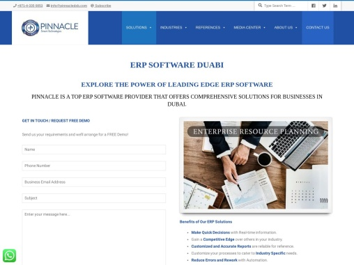 ERP Software solution for your business in Dubai, UAE | Pinnacle Smart Technologies