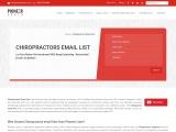 Chiropractors Email Database List
