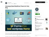 Choosing A Best WordPress Theme For Your Blog