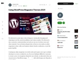 Using WordPress Magazine Themes 2021