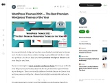 WordPress Themes 2021 – The Best Premium WordPress Themes of the Year