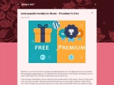 most popular wordpress theme – Premium Vs Free