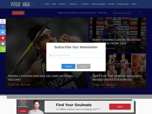 All the Sports News | Sports | Pitchhigh