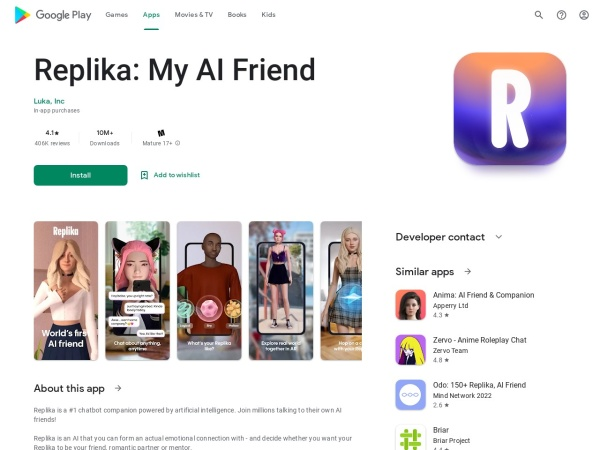 Replika - 12 Best AI Apps For Android 2020 – That You Must Try