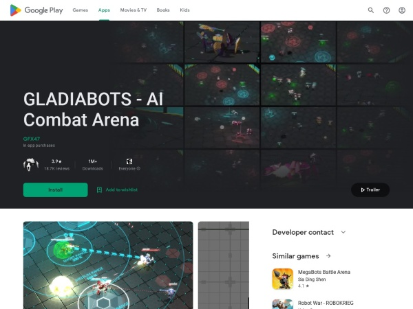 Gladiabots - 12 Best AI Apps For Android 2020 – That You Must Try