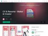 Resume Maker/CV Creator – PDF File