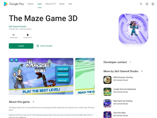 The Maze Game 3D | Adventurous puzzle game