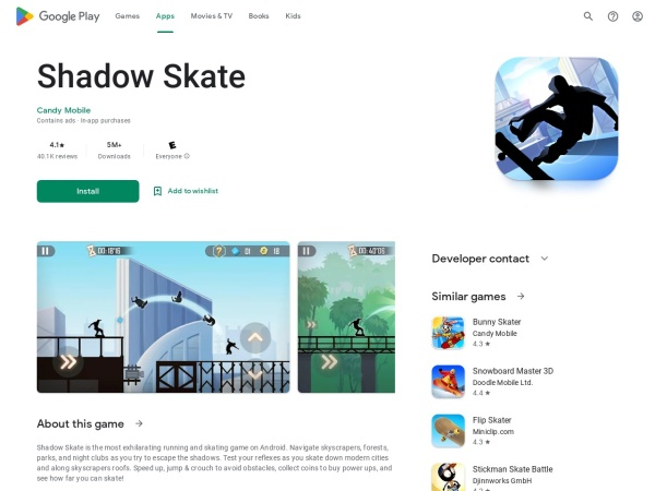 Shadow-skate - Top 15 Cool Android Games under 50MB (You Must Download)
